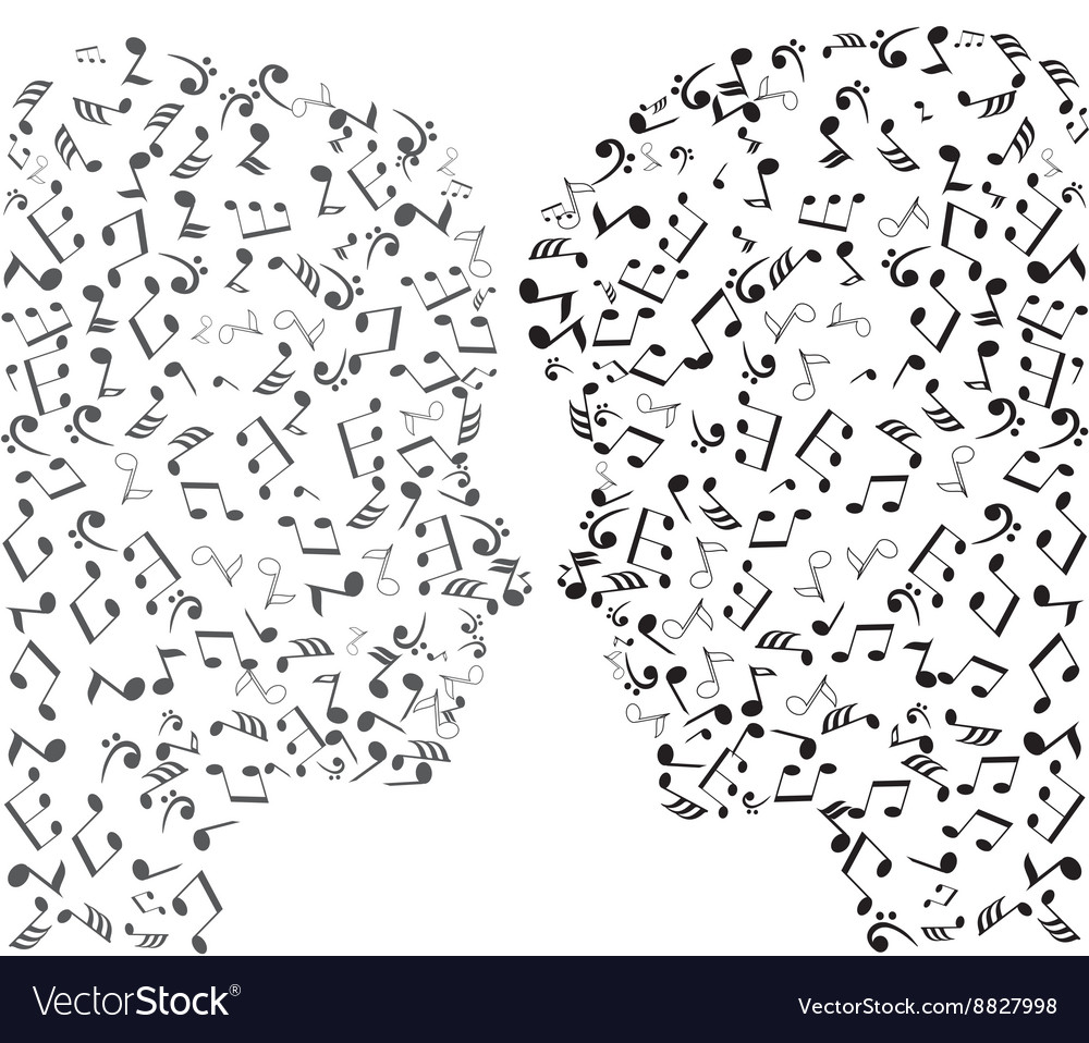 Man and woman notes vector