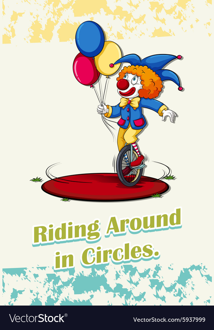 Riding around in circles vector