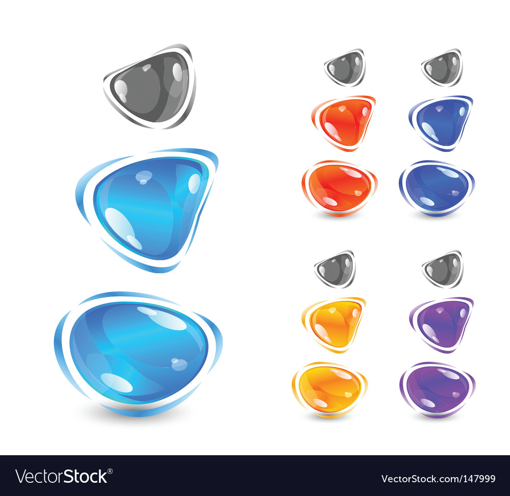 Shiny gems vector