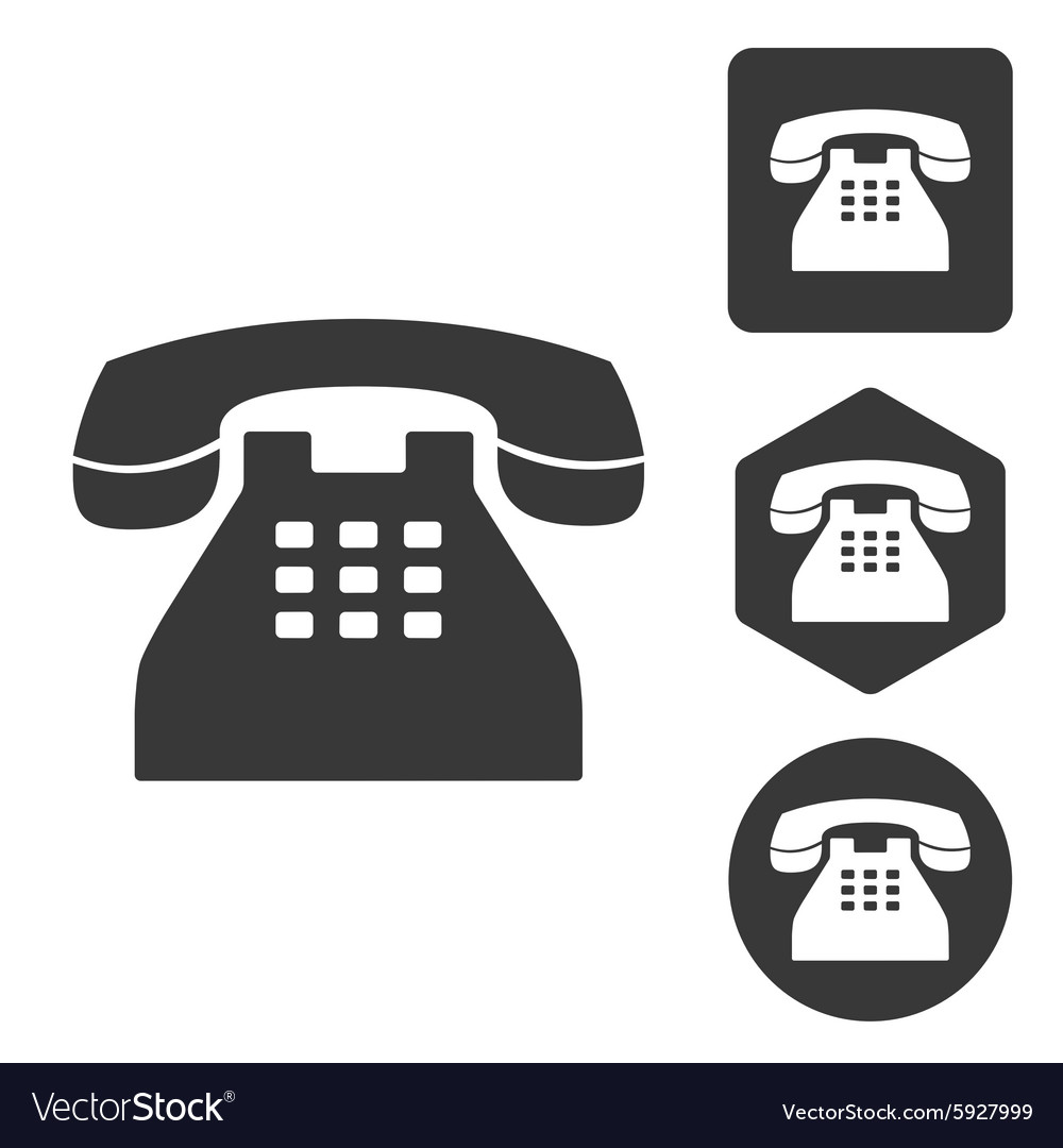Telephone icon set monochrome vector