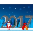 Winter holiday new year vector image