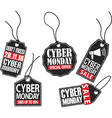 Cyber monday tag set vector image