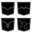 jeans pocket black symbols vector image