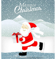 Santa skate on ice vector image