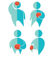 pain collection vector image vector image