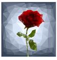 polygonal rose vector image