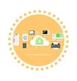 Smart Household Appliances Icon Flat Design vector image vector image