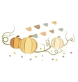 vintage pumpkins vector image vector image
