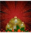 red and gold festive background vector image