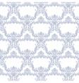 Baroque floral damask ornament pattern vector image