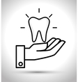 care tooth odontology service vector image