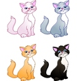 cat cartoon collection vector image