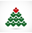 Christmas social tree vector image
