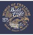 Eagle print 003 vector image