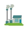 industrial factory buiding pollution symbol vector image