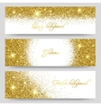 glitter banners Glittering greeting card vector image