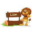 A signboard with a lion vector image