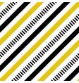 yellow and black diagonal lines seamless vector image vector image