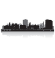 Limerick city skyline silhouette vector image vector image