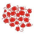 Floral ornamnet with red apples for your design vector image vector image