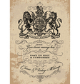 Victorian lion poster vector image vector image
