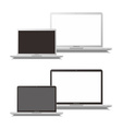 laptop and notebook vector image