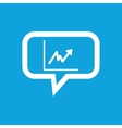 Rising graphic message icon vector image