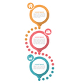 Three Steps Diagram Template vector image vector image