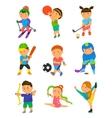 Cartoon sport kids vector image