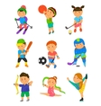 Cartoon sport kids vector image