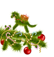 green horse of a Christmas tree vector image