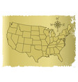 old united states of america map vector image