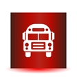 School Bus icon solid vector image