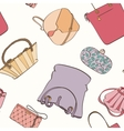 Seamless bag pattern vector image