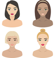 Set of girls icons vector image