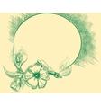 Flower retro frame vector image