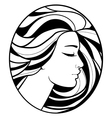 monochrome drawing profile silhouette vector image