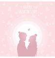 happy love in hats vector image vector image