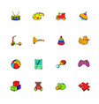 toys icons set cartoon vector image