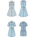 jean dress set vector image