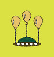 flat icon design collection flying saucer in vector image vector image