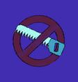 flat shading style icon no saws vector image vector image