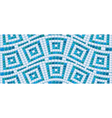 Seamless mosaic pattern - Blue ceramic tile - clas vector image vector image