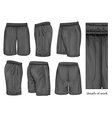 Mens black sport shorts vector image
