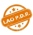 Lao grunge icon vector image