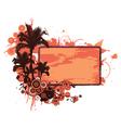 grunge summer floral frame vector image vector image