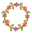 Colorful flowers crown graphic vector image