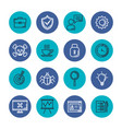 business and management set icons vector image