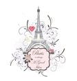 Eiffel tower romantic background vector image