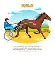 Equestrian Sport Cartoon Template vector image